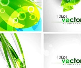 Pure and fresh and dynamic green background vector material