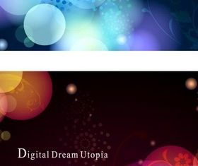 Colorful halo background vector material