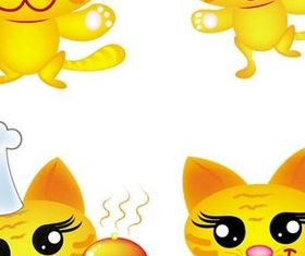 Funny Cartoon Cats vector