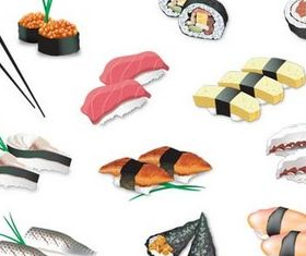 Sushi graphic vector