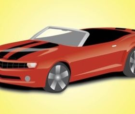 Sports Car Convertible vector
