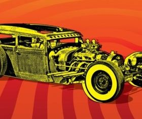 Hotrod Car creative vector