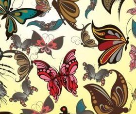 Butterflies Pattern vector material