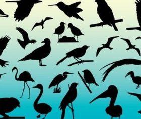 Free Birds Silhouettes vector
