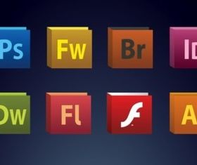 Creative Suite Icons Vector vector design