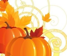 autumn pumpkin vectors material