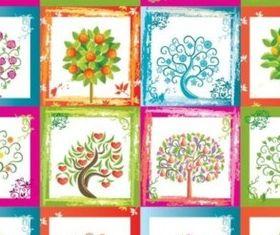 Bright color tree vector
