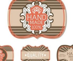 Orange Vintage Labels design vectors