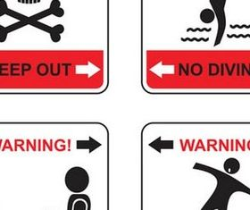 Warning Symbols graphic vectors graphic