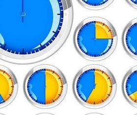 Glass Clocks free vector graphic