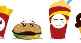 Funny cartoon fast food vector