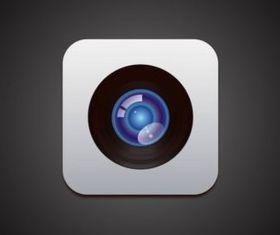 Apple Camer vectors graphics