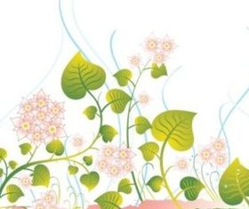 Green blossom vine vector design