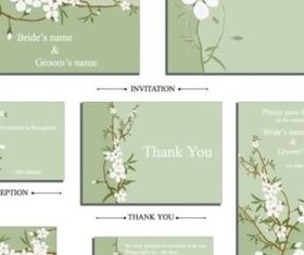 shiny white flowers set vector