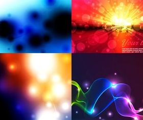 Colorful dynamic halo background vectors