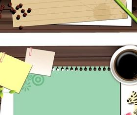 Desktop paper background vector