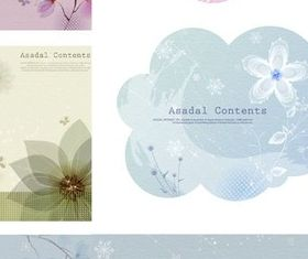 Elegant flower pattern background vector design
