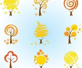 Cool Tree Icons Vector