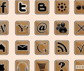 Social Web Icons vectors