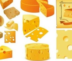 Different cheese vector