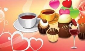 free cakes and coffee vectors
