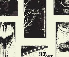 Grunge Elements graphic vectors