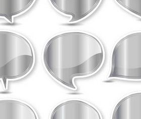 Silver Speech Bubbles art vectors material