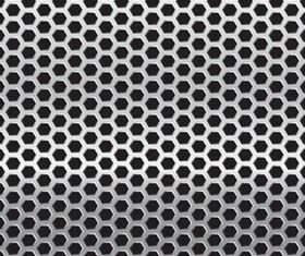 Metal Grid Backgrounds shiny vector