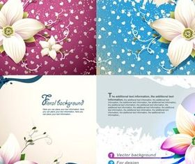 Bright flower background vectors graphics
