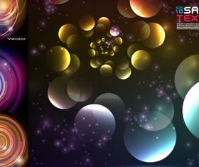 Colorful ring backgrounds vector