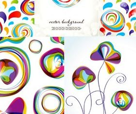 Popular abstract graphics background vectors