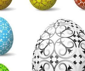 Vivid Easter Eggs vector set