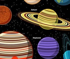 Different Planets graphic vector graphics
