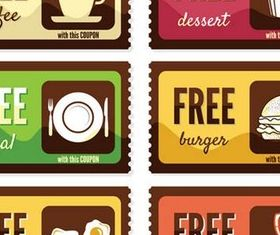 Food Coupon Set art vector