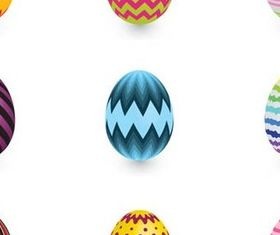 Easter Color Eggs graphic design vectors
