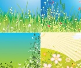 spring fields vectors
