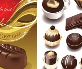 Various chocolate vector
