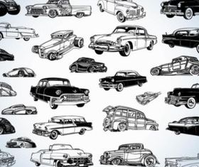 Vintage Cars vector material