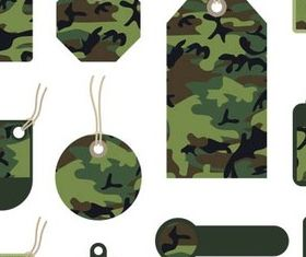 Camouflage Elements Illustration vector