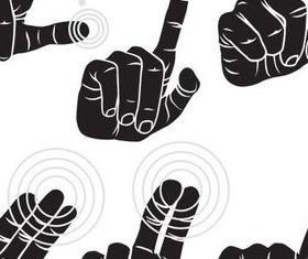 Pressing Hands free vectors