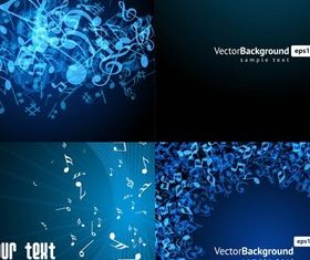 Blue note backgrounds shiny vector