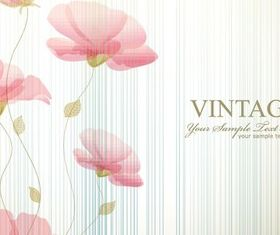 Simple and elegant flowers drawing background vector