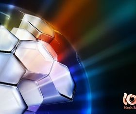 Three-dimensional spherical backgrounds vector
