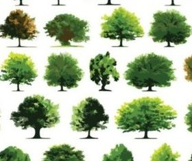 Different trees vector design