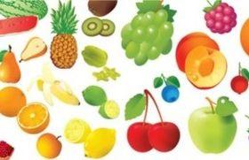 Different Vivid fruit vectors graphic