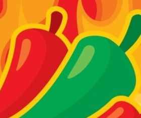 Abstract Pepper background set vector