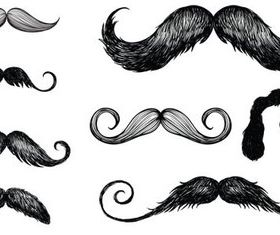 Mustache Set free vectors graphic