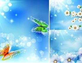 Dream sunlight background vector graphics