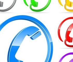Color Phone Symbols vectors