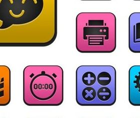 Color Various Icons art vector